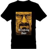 새로운 도착 여름 탑 브레이킹 인쇄 하이젠 베르크 T 셔츠 남성 라운드 넥 티셔츠 피트니스 짧은 소매 티셔
