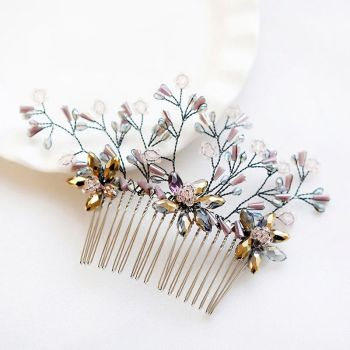 Forest Style Handmade Unique Hair Comb Elegant Women Crystal Hairpins For Anniversity Gifts Multicolor Custome Jewelry 2018 image