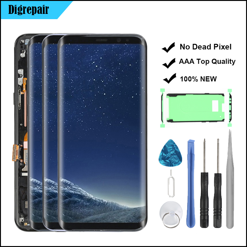 US $25 99 |S8 Plus LCD For SAMSUNG Galaxy S8 plus LCD Display G955f Touch  Screen Digitizer Frame Replacement For Samsung S8 Plus LCD Screen-in Mobile