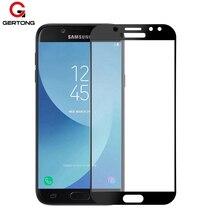 GerTong полное покрытие из закаленного стекла для samsung Galaxy J5 J7 A5 J3 A8 A6 Plus J6 Защитная пленка для экрана