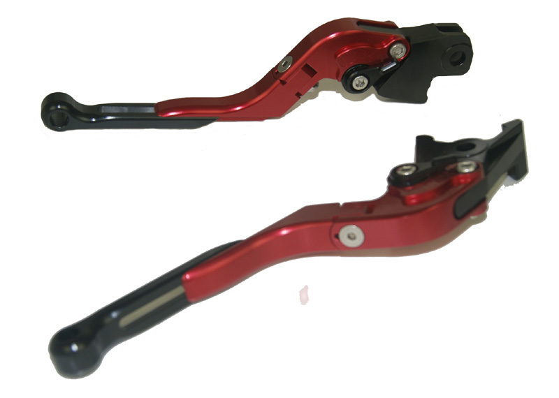 Motorcycle Brake Clutch Levers Adjustable Folding Extendable Black+Red For BMW F800S F800ST F800GS F800R F650GS adjustable billet short folding brake clutch levers for bmw f 650 700 800 gs f650gs f700gs f850gs 08 15 09 10 f 800 r s st 06 15
