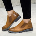 Summer British Style Men Ankle Boots Male Designer Motocycle Boots Fashion Chelsea Botas,Bullock Oxford Shoes
