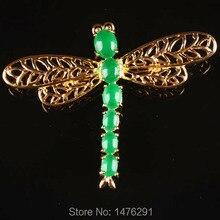 Искусственный зеленый нефрит стрекоза брошь из бисера 1 шт. для женщин