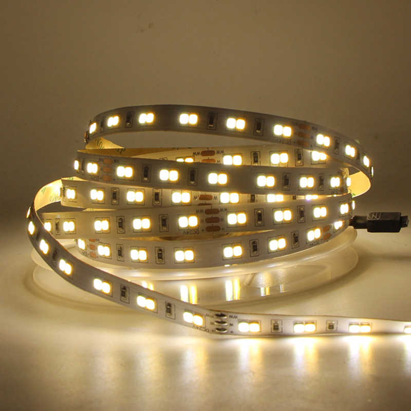5 M 10 M Warna Ganda CRI> 95 SMD2835 CCT Dimmable LED Strip Lampu 24 V DC WW CW warna Suhu Adjustable Fleksibel Pita LED Pita