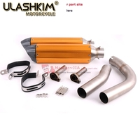 R1 Motorcycle Exhaust full system middle pipe exhaust + Muffler for YAMAHA R1 2009 to 2014 Slip On