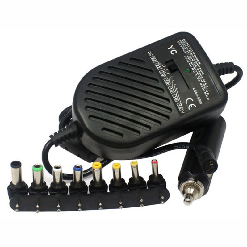 80W DC USB Port LED Auto Car Charger Adjustable Power Supply Adapter Set 8 Detachable Plugs For Laptop Notebook Best Price Jan5 universal 80w laptop car charger adapter power supply adjustable power set 8 detachable plug