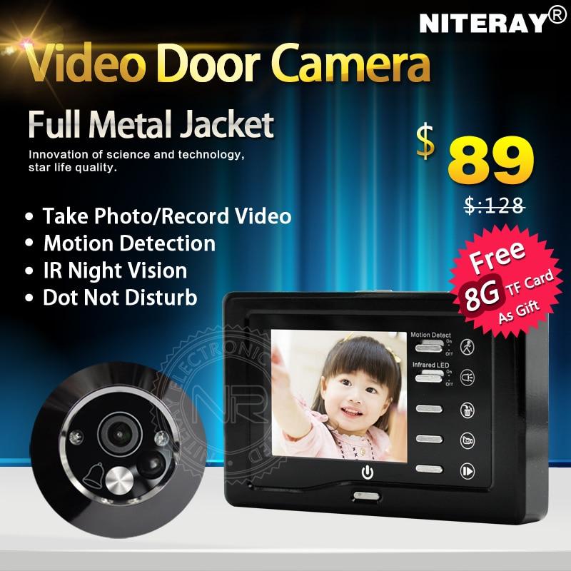 ФОТО Motion Detect Peephole Door Camera Viewer With Doorbell For Front Door Intercom Security