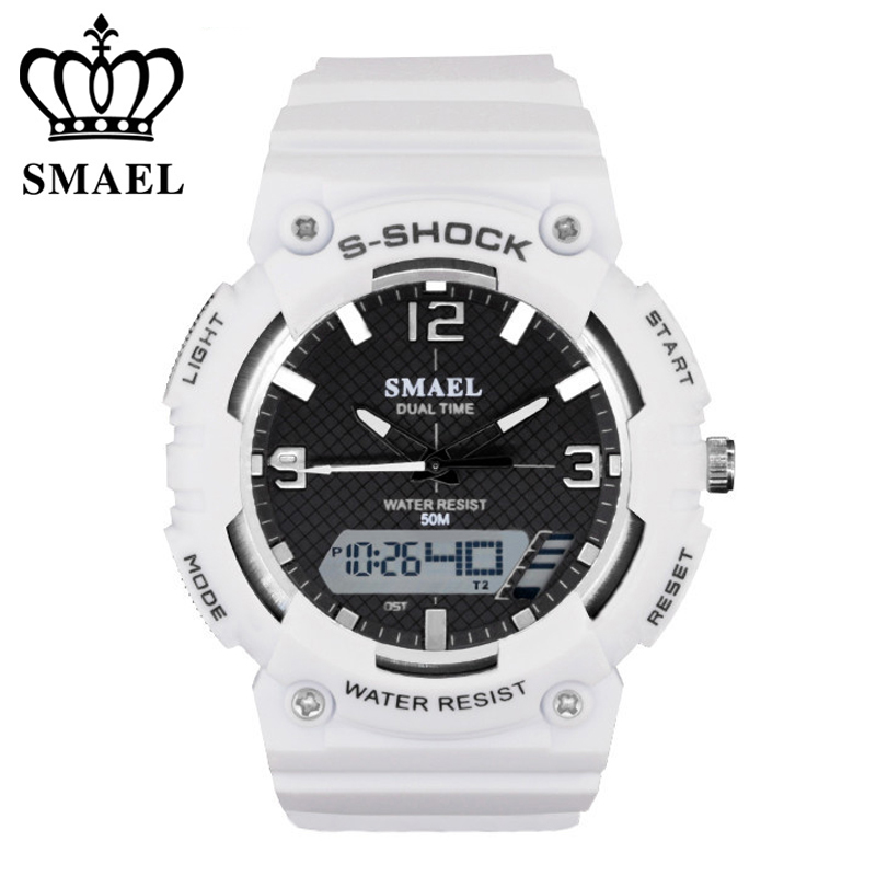 SMAEL Brand Men Women Watches Fashion Digital Pointer Double Display Electronic Watch Luminous Alarm Clock Student Wristwatches in Children 39 s Watches from Watches