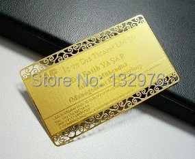 Custom Metal Business Cards And Anodized Aluminum Card; Engraved Business Card