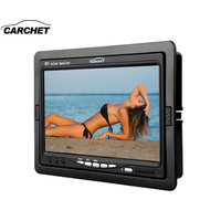 CARCHET 7 Inch TFT LCD Color Car Monitor 2 Video Input PC Audio Video Display Security