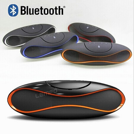 Wireless Bluetooth Speaker TF AUX USB FM Radio with Built in Mic Hands free Portable Speaker