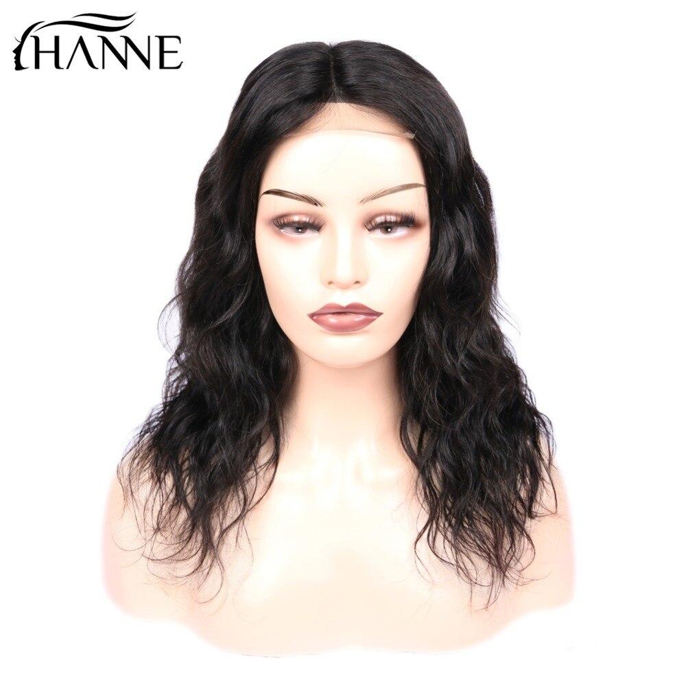 Short 4 4 Lace Closure Wig Remy Natural Wave Lace L M R 3 Part Human