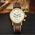 MCE Watches New Fashion Automatic Self-Wind Men Mechanical Watch High quality leather strap Waterproof Male clock Reloj Hombres