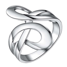 bling shiny Silver plated Ring Fashion Jewerly Ring Women&Men , /KQTZJRUI HJEUYMQU