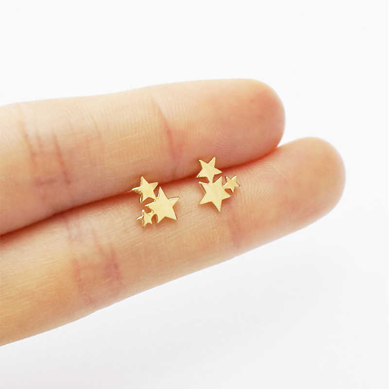 Fashion Stud Earrings for Women Girl Feamale Mixed 8 Style Star Dinosaur Crown Love Heart Rose Flowers Leaf Earring Jewelry Gift
