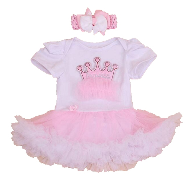 15d2d744bcd9e Crown White Lace Petti Romper Dress Headband Toddler Tutu Sets Baby Girl  1st Birthday Outfit Infant Girls Clothing Kids Clothes-in Clothing Sets  from ...
