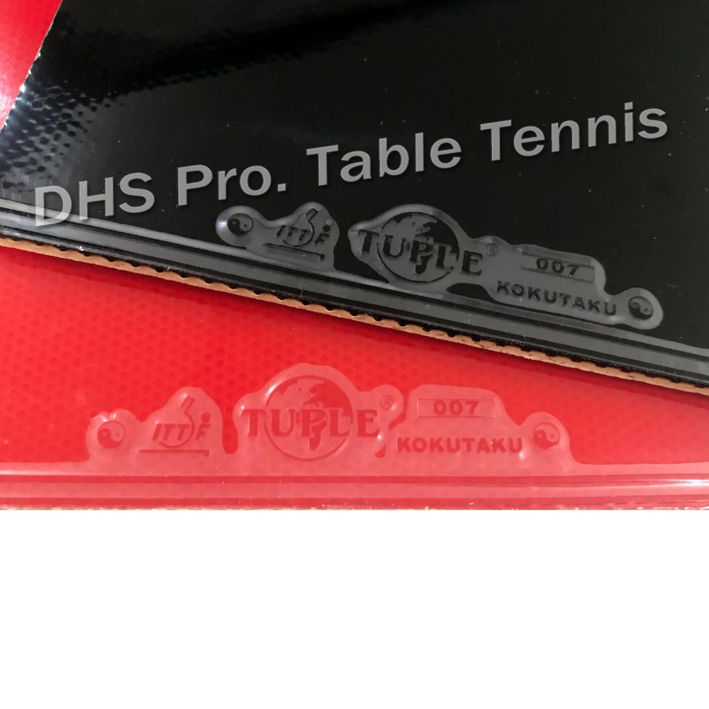 2x Kokutaku Tuple 007 Training A Pair Rubber 1 Red And 1 Black  Table Tennis Rubber With Sponge