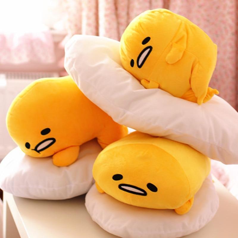 Lazy Egg Yolk Geka Through Plush Pillow, Gudetama Monarch Egg Toys, Cushions, Birthday Gifts, Christmas Gifts 0.5kg