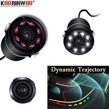 Koorinwoo câmera de movimento dinâmica automotiva, 8 ir luzes, sistema de visão noturna