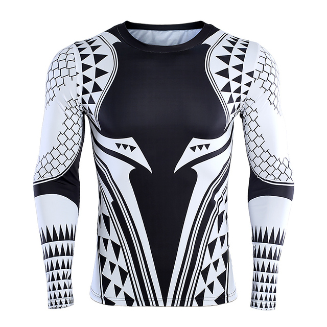 a20588f715fe3 Aquaman 3D Printed T shirts Men Compression Shirt 2018 Newest Character  Cosplay Costume Long Sleeve Tops