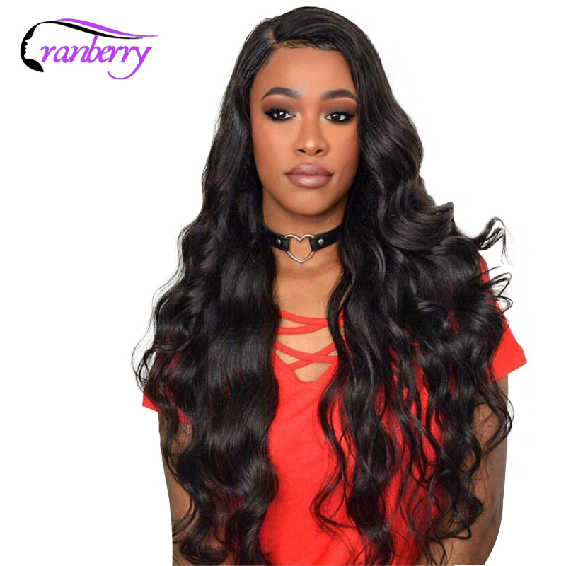 Cranberry Hair 13X4 Closure Wig Brazilian Body Wave Lace Front Wig 100 Remy Hair Lace Front