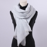 100 Cashmere Scarf Women Light Gray Blue Cashmere Scarf Shawl Patina Cashmere Scarf High Quality Free