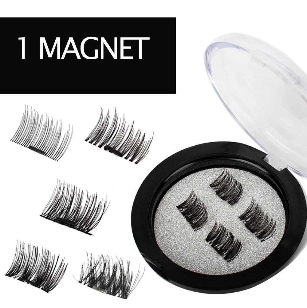 8e0de951041 ... 3 Magnet Eyelashes 3D Mink Nature Magnetic False Eyelash Extension Faux Fake  Lashes Ciglia Long Thick ...