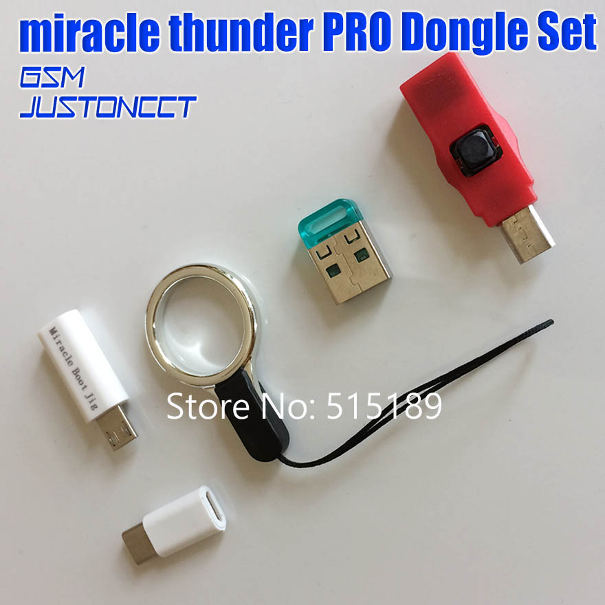 Miracle Thunder Pro Dongle SET Edl Cable & Miracle Boot JiG Emmc Solution FRP Flash Generic Mode No Need Miracle Box/Key
