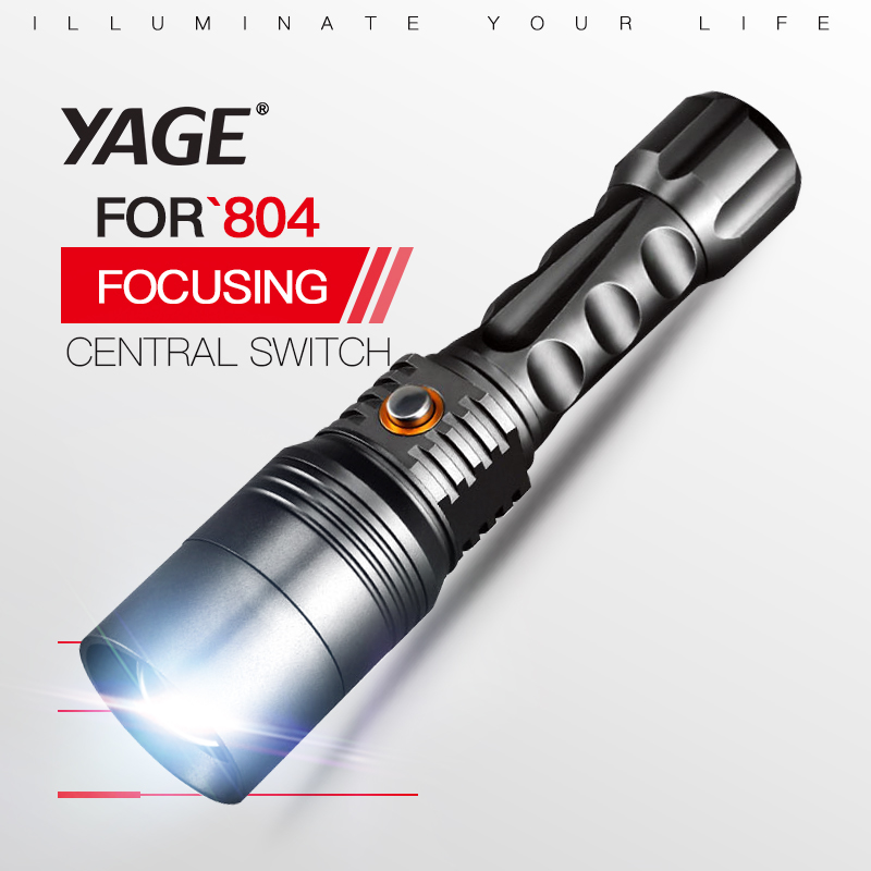 YAGE 804 XP-E 1000-2000LM Aluminum Self Defense Zoomable CREs