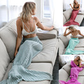 In The Winter of 2017 Hit New Winter Mermaid Easy Leisure Warm Knitting Blanket Woollen Blanket