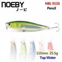 NOEBY 1Pcs Fishing Lure 115mm/25g Top Water Pencil Leurre Dur Peche Souple Big Hard Bionic Bait Lures VMC Treble Hooks