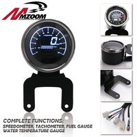 Motorcycle Digital Odometer Speedometer Tachometer Fuel Level Meter Indicator Led Multi functional Motorbike Gauges Instruments