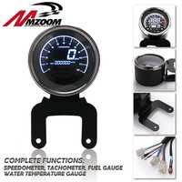 Motorcycle Digital Odometer Speedometer Tachometer Fuel Level Meter Indicator Led Multi-functional Motorbike Gauges Instruments