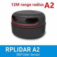 Cheltec RPLIDAR A2 2D 360 degrés 12 mètres scanner de capteur lidar de rayon de balayage pour éviter les obstacles et la navigation des aéronef sans pilote (UAV) AGV