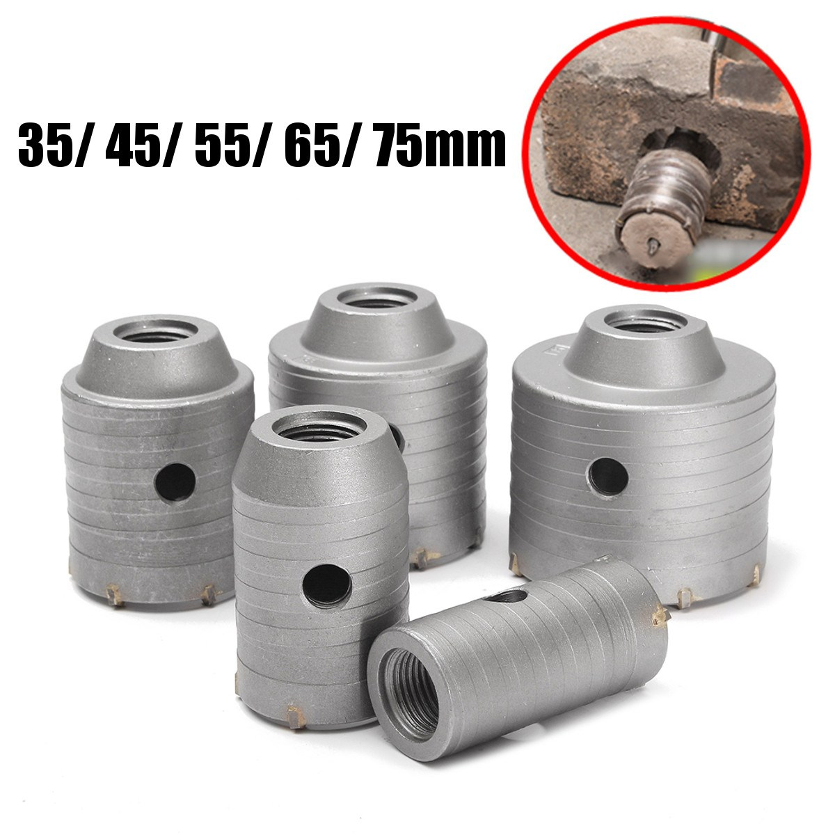 High Quality 35-75mm Drill Bit Coated Hole Saw Tooth Hole Cutter Metal Brick For Brick Concrete Walls Air Conditioning Openings