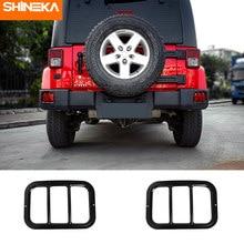SHINEKA – protecteur de feu antibrouillard arrière en fer, pour Jeep Wrangler JK 2007 – 2017, accessoires de voiture