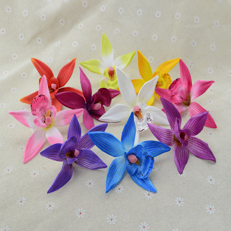 Fake plastic Butterfly orchid artificial flowers for Christmas home wedding decoration accessories diy floristics gifts box silk