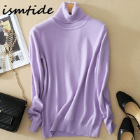 Women S Kint Sweaters 100 Cashmere Blouse Turtleneck Winter Tops Solid Elastic Slim Sexy Casual Coats
