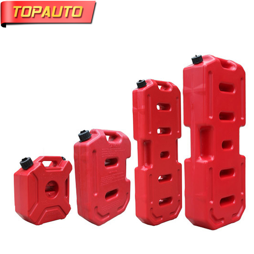 Topauto 20l 30l Fuel Tank Gasoline Diesel Can Anti-static Plastic Hot Sale Petrol Barrel Car Suv Sand Plate Motorcycle Tricycle