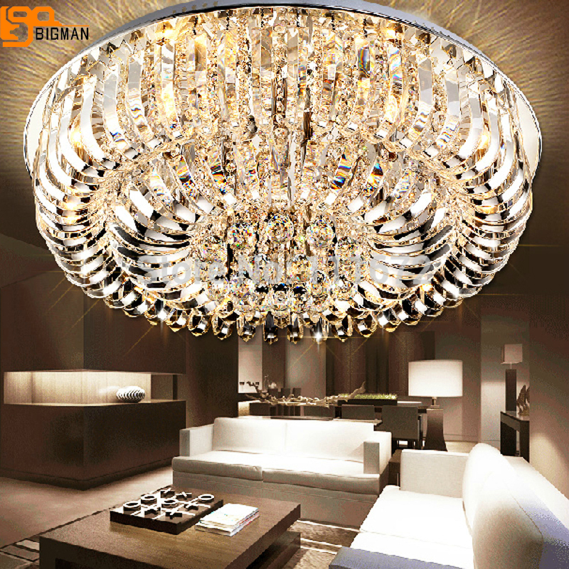 Новый заподлицо K9 хрустальная люстра современные лампы для гостиной люстра с пультом дистанционного управления