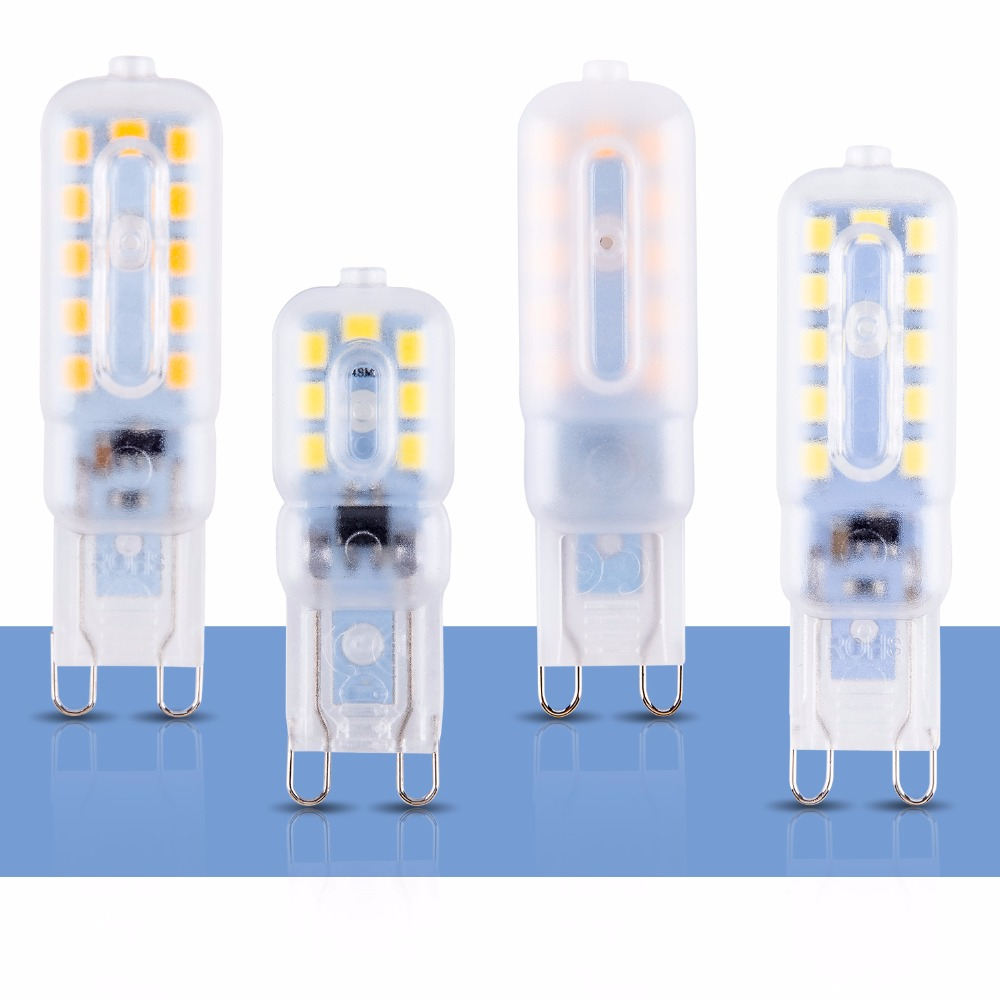 8PCS LED Corn Lamp G9 Bulb LED Halogen Lamp 220V Mini Light Bulb Spot 3W 5W Bombillas LED Ceiling Lighting Candle Bulb G9 230V in LED Bulbs Tubes from Lights Lighting