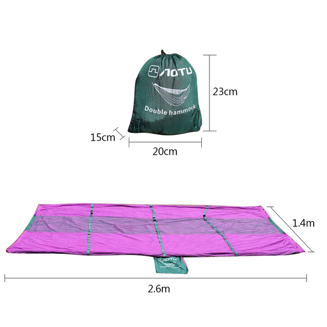 Ultralight Outdoor Camping Hunting Mosquito Net Parachute Hammock 2 Person Garden Beach Hammock Hanging Bed Leisure Sleeping Bed
