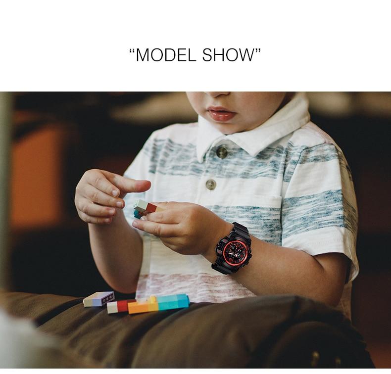 relógio de quartzo esporte para crianças meninas