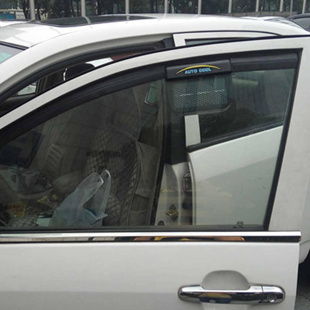 Universal 12 โวลต์พลังงานแสงอาทิตย์ Electrico Auto ไอเสียพัดลมหน้าต่างระบายอากาศแฟน Air Vent Conditioner พัดลมระบายอากาศหม้อน้ำรถยนต์