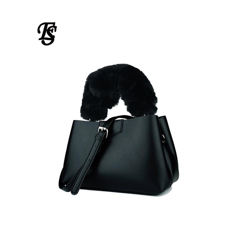 E.SHUNFA brand mane handbag fashion woman shoulder bag soft PU leather woman bag with wallet black khaki green цена