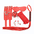 High Quality Leather 6pcs/set Erotic Positioning Bandage Fetish Bondage Set for Couples Bondage Restraint Kit SM Toys J34