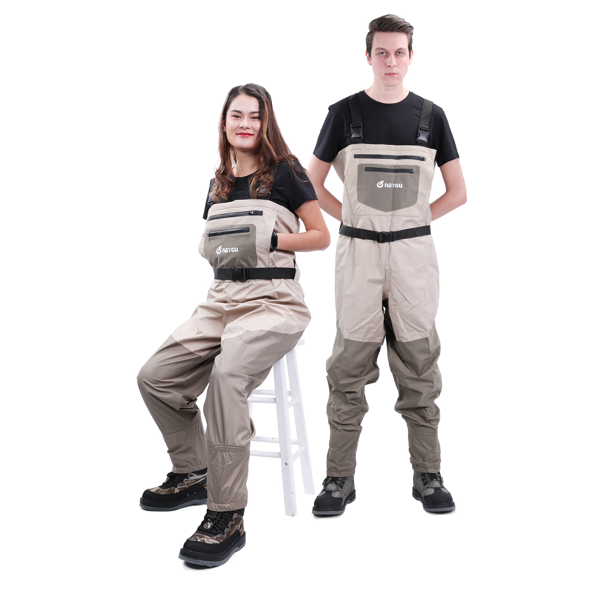 NeyGu Fly Fishing Wader Stocking Foot Chest Waders Breathable Waterproof Pants Water Playing Trousers