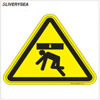 Custom Logo Be Careful Not To Fall Over Sticker Good Quality Yellow Vinyl PVC Warning Stickers
