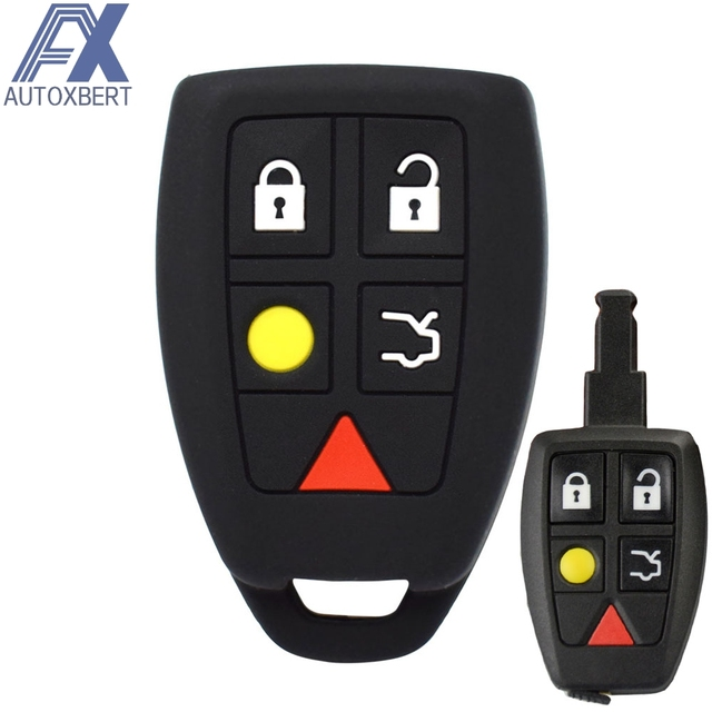 Silicone Car Key Case For Volvo C30 C70 S40 V50 2004 2005 2006 2007 Cover Remote Fob Shell Jacket Sleeve