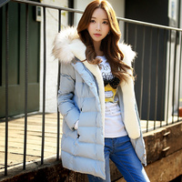 Authentic White Duck Down Ladies Plus Size Slim Winter New Style Fur Collar Thick Down Jacket Women Wholesal